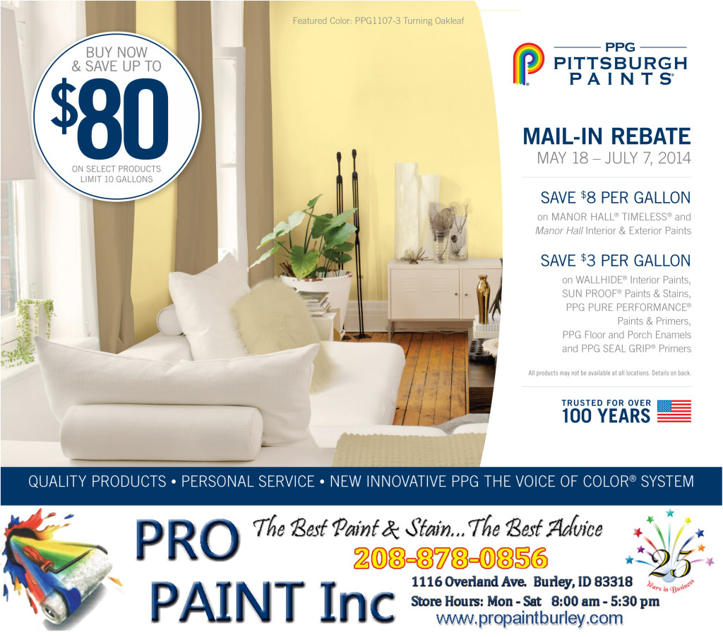 PPG Rebate May 18 - July 7